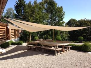 Voile solaire triangulaire I